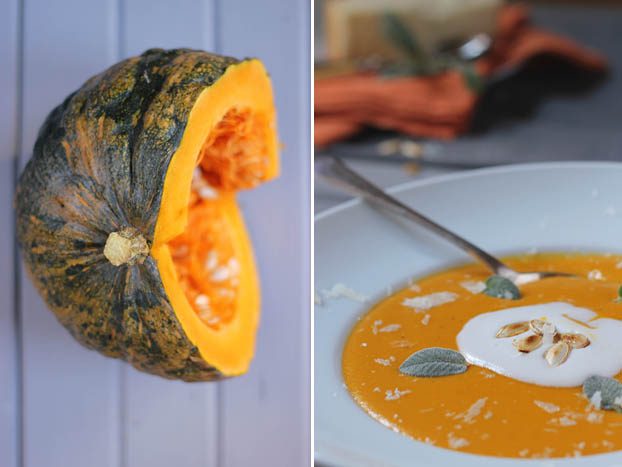 The colour orange: pumpkin soup
