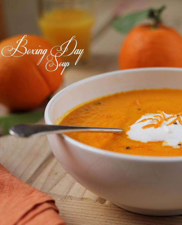 Carrot, orange & cardomon soup