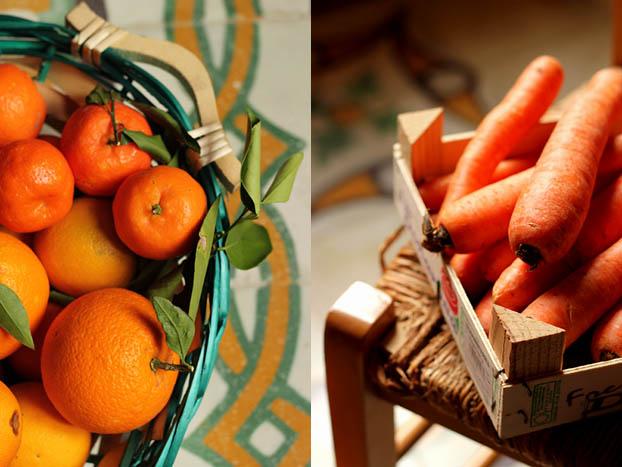 Carrot, orange & cardamon soup