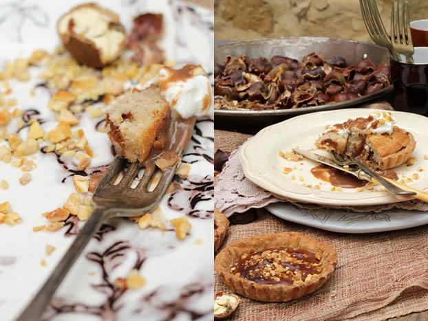 Chestnut  & chocolate tartelettes, eaten!