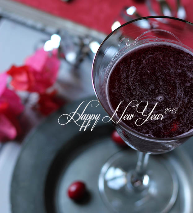 Cranberry cordial welcoming in New Year 2013