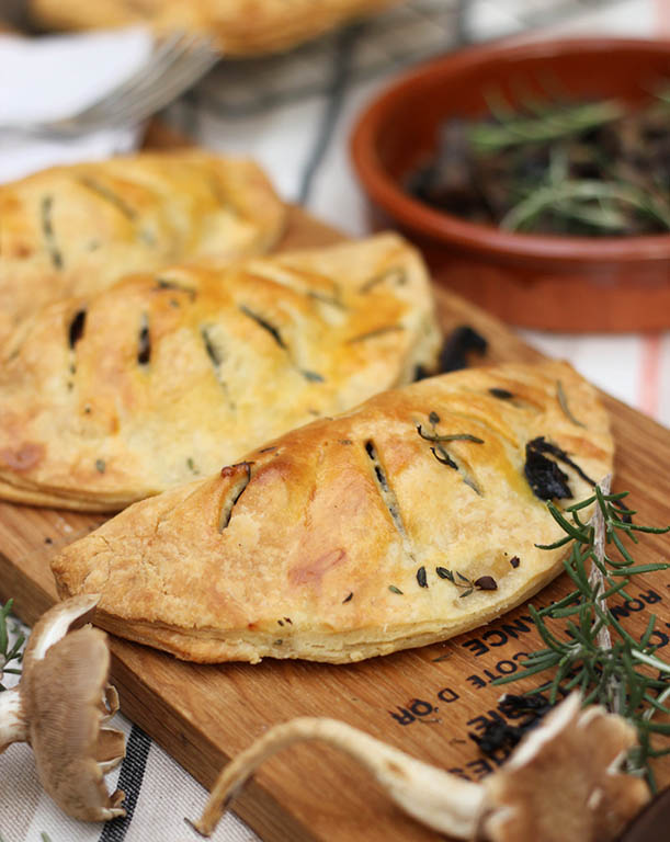 Mushroom pasties, an earthy, rich flavour perfect for a winter snack