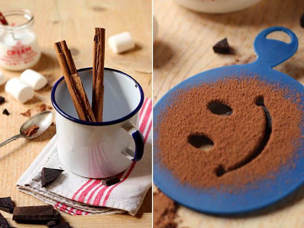 Real hot chocolate smiley face!