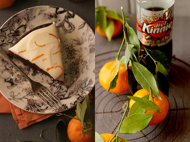 Chocolate orange Kinnie cake - a new Maltese recipe