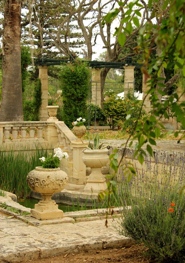 Sunken Garden at Villa Bologna, Malta