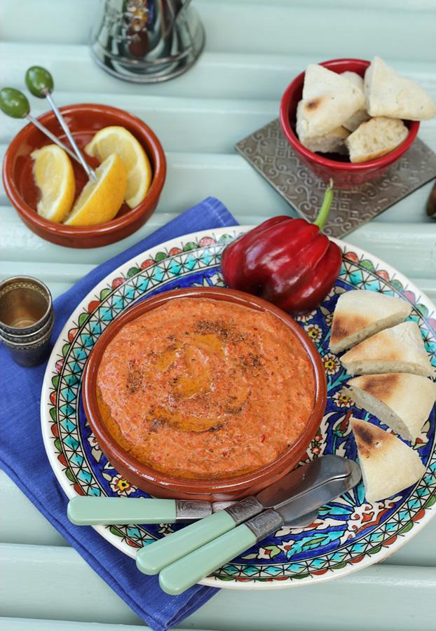 Lebanese bell pepper dip