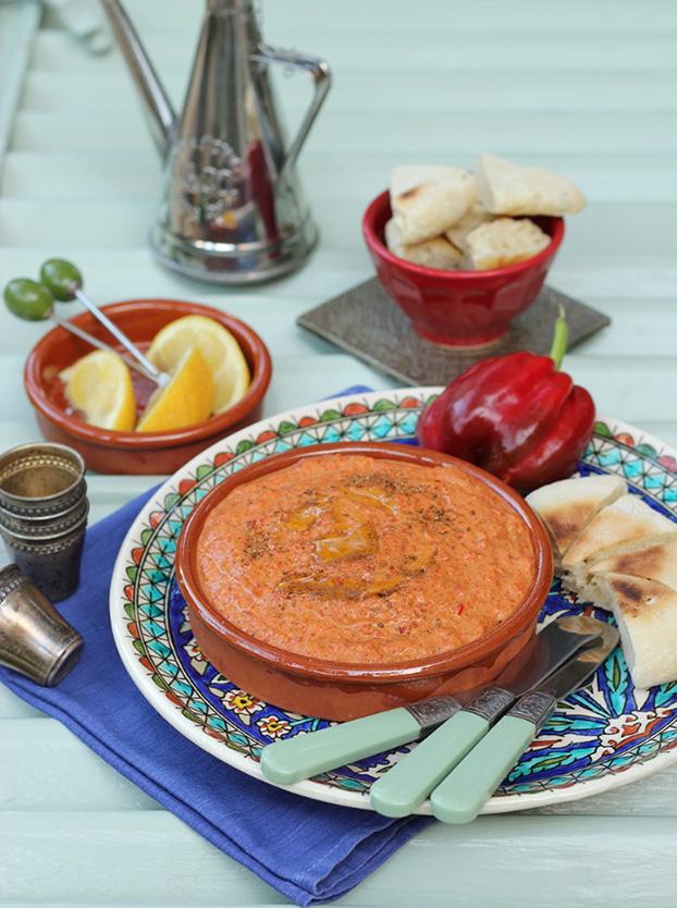 Lebanese red pepper dip, Muhammara