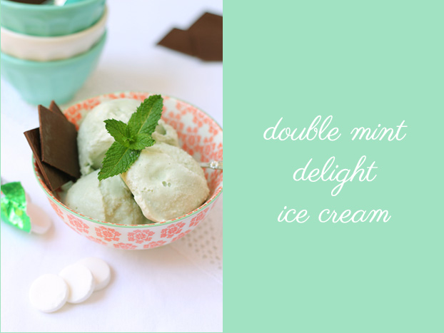 Double mint delight ice cream
