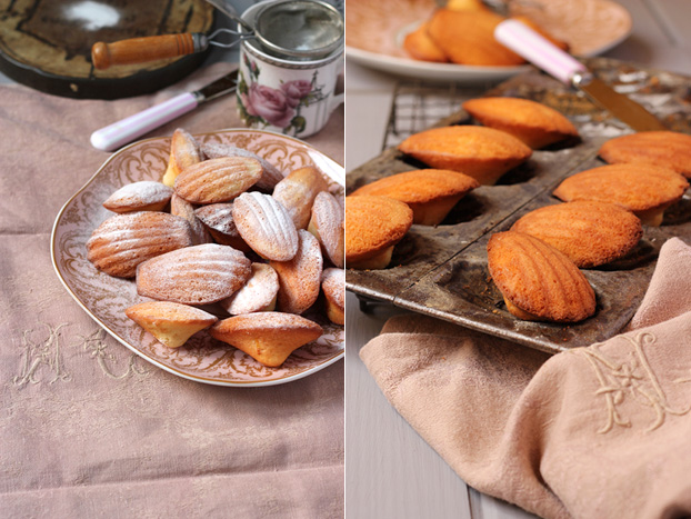 French-style Madeleines for afternoon tea