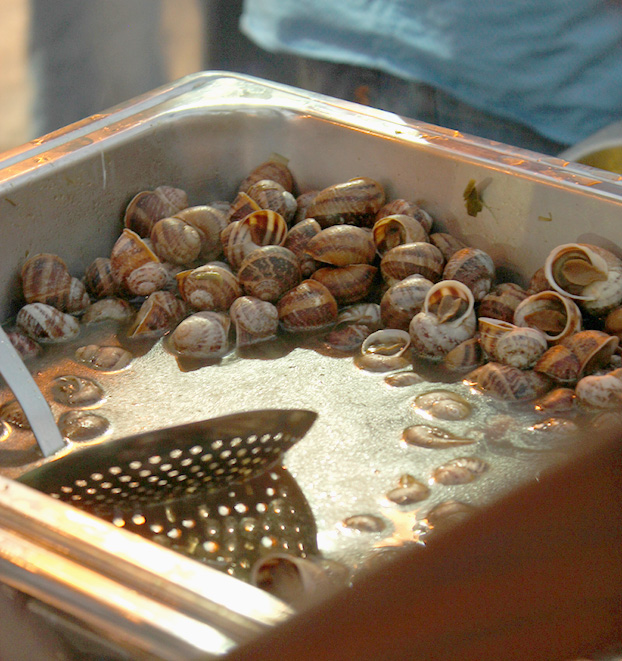 snails in garlic at a Maltese festa