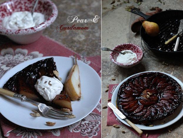 Tarte Tatin pear & cardamom slice