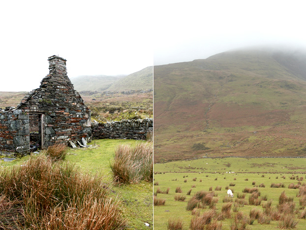 Ruin of a slate worker's house, Snowdonia