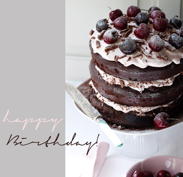 La Vie En Rose Chocolate Cherry Cake