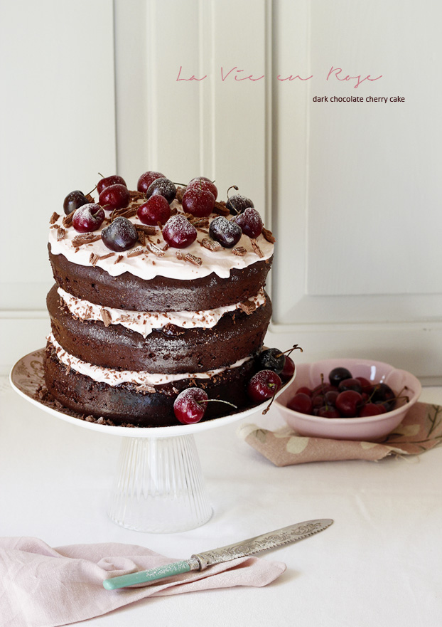 Dark Chocolate Cherry Cake