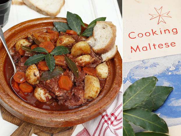 Maltese rabbit stew [stuffat tal-fenek]