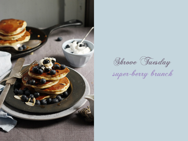 Shrove Tuesday Blueberry Almond Pancakes
