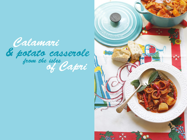 Capri calamari & potato casserole