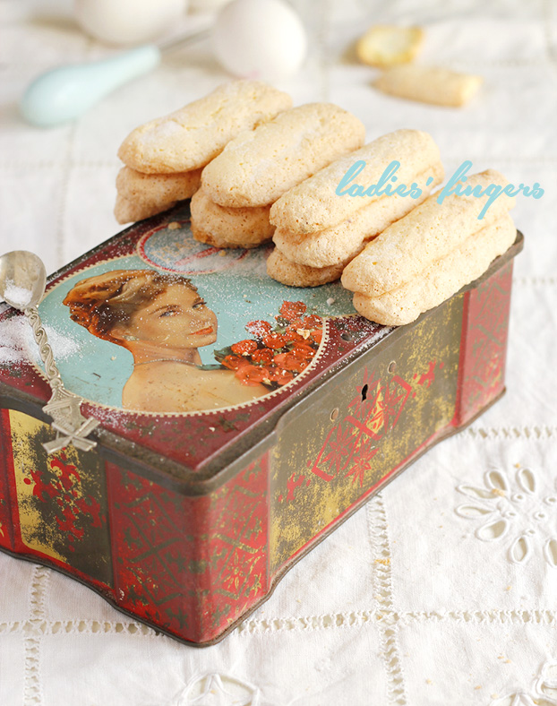Savoiardi or ladies' fingers biscuits
