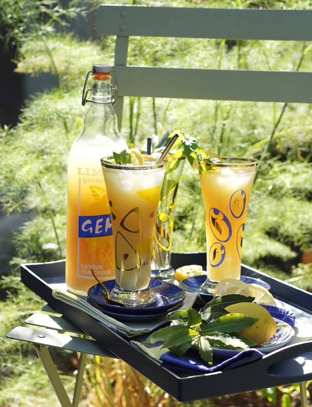 Homemade Lemonade with Mint & Bay