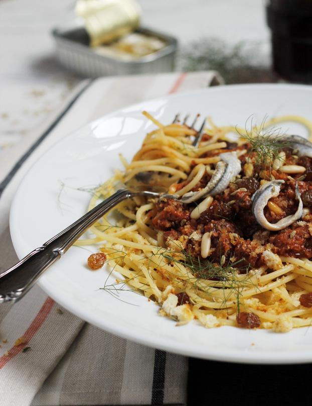 Spaghetti Sarde al Finocchio