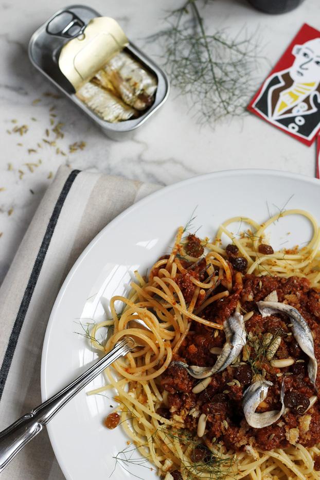 Saturday Spaghetti with Sardines & Fennel