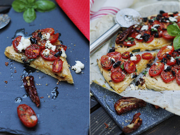 Two tomato tart - Dattarini & sundried
