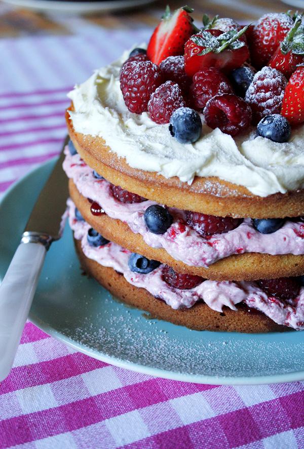 Berrylicious birthday cake